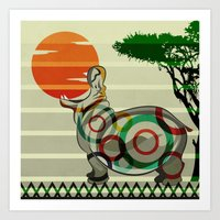 dreamer Art Prints featuring Dreamer by milanova