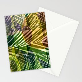 exotic palms abstract Stationery Cards