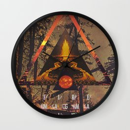 MYSTIC//FIRE Wall Clock