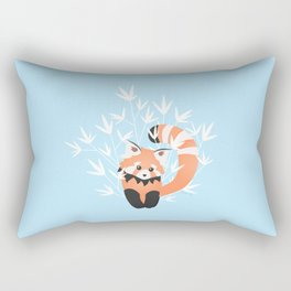 Baby Red Panda / Sky Rectangular Pillow