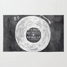 my home, my music, my rules Rug