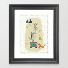 Wolf Adventure Framed Art Print