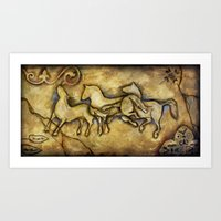 Three Horses Art Print
