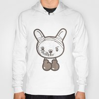 boxing Hoodies featuring Boxing Bunny by pencilplus