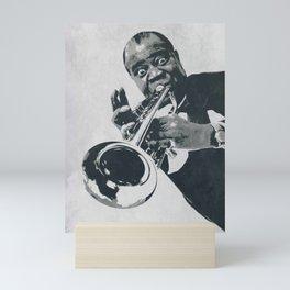 Society6 1000 Elements Of Louis - Louie - Daniel Armstrong Satchmo - Satch - Pops - Pop Sketch-Art 5 Mini Art Print