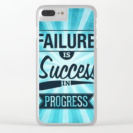 Failure Is The Condiment Inspirational Motivational Quote Design Clear iPhone Case