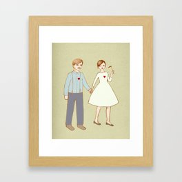 We are together Framed Art Print