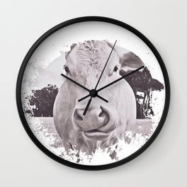 Vintage Bovine Wall Clock