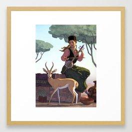 Persian gazelle Framed Art Print