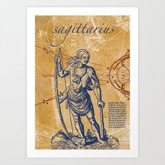 sagittarius | schütze Art Print