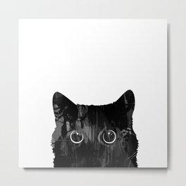 Patient Cat Metal Print