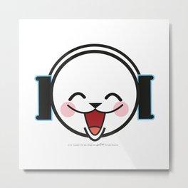 Luka Space Smiling Metal Print