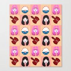 Marcelline & Bubblegum Canvas Print
