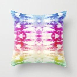 Tie Dye Rainbow Throw Pillow