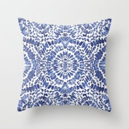 Abstract Indigo Pattern No.1 Throw Pillow