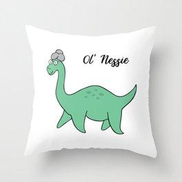 Ol' Nessie Throw Pillow
