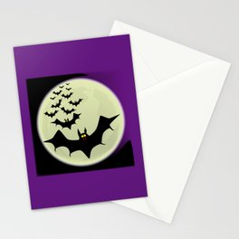 Bats and Moon Stationery Cards