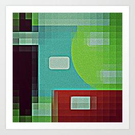 8 Bit Retro Byte  Art Print