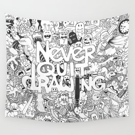Doddle | Never Quit Drawing Wall Tapestry