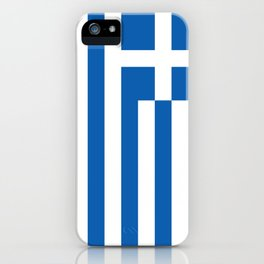 Flag of Greece, High Quality image iPhone Case