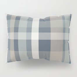 Retro Modern Plaid Pattern 2 in Neutral Blue Gray Taupe Pillow Sham