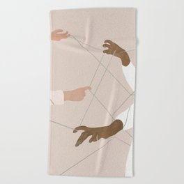 Wired Together Beach Towel