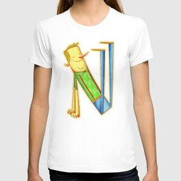 illustrated N T-shirt