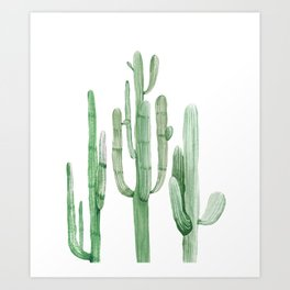 Three Amigos White + Green by Nature Magick Art Print