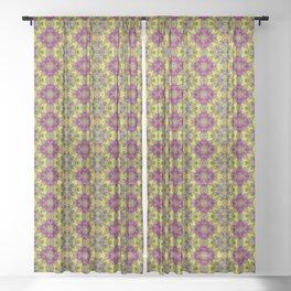 Flower Child Diamonds Sheer Curtain