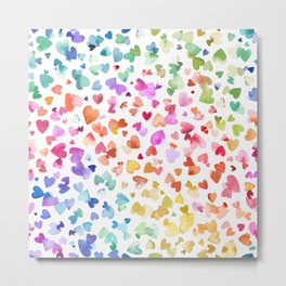 Melting hearts - Multicolored love Metal Print