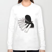 piano Long Sleeve T-shirts featuring Piano by PSimages