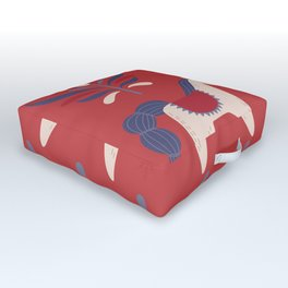 Swedish Christmas 2 Outdoor Floor Cushion