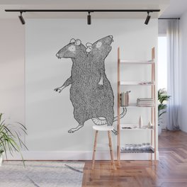 Two Headed Rat, I Love You Wall Mural