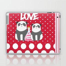 Polka Dot Panda Love Laptop & iPad Skin