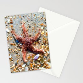 Washed up Beautiful Red Starfish Photo Art Stationery Cards