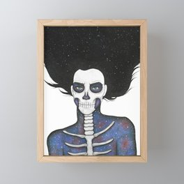 Galaxy Skull Girl Framed Mini Art Print