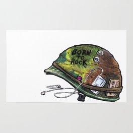 """Born to Rock"" by Cap Blackard Rug"
