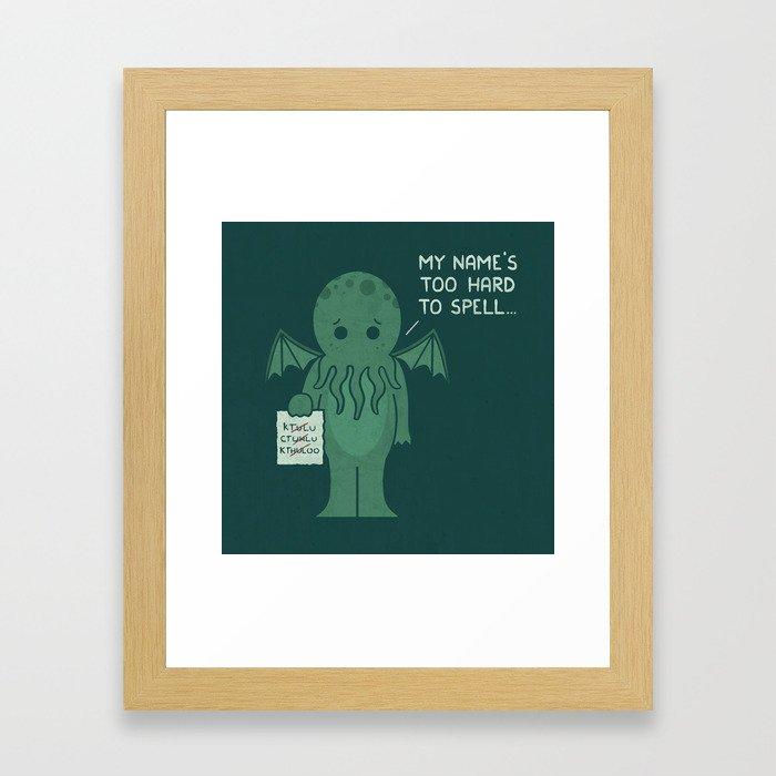 Monster Issues - Cthulhu Framed Art Print