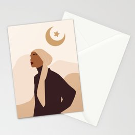 Woman in Hijab Stationery Cards