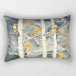 Hoopoes in the forest Rectangular Pillow