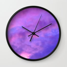 Purple Clouds Wall Clock