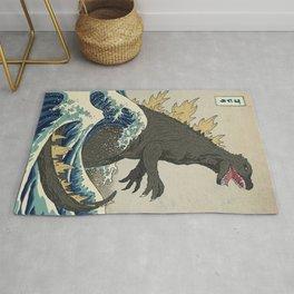 The Great Godzilla off Kanagawa Rug