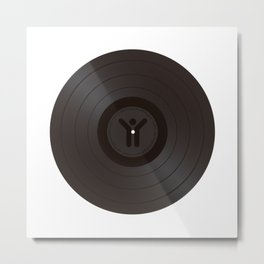 Hypnotzd Music Vinyl Metal Print