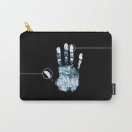 Hand Print Line Carry-All Pouch