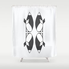 foxy reflected Shower Curtain