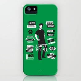 Scott Mccall Teen Wolf Quotes iPhone Case