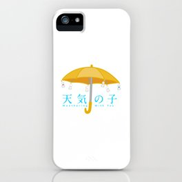 Weathering with you umbrella with rain dolls iPhone Case