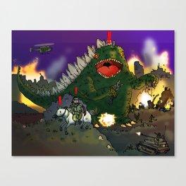 """""""Big Snake Vs. Big Lizard"""" (Farts 'N' Crafts episode 3) Canvas Print"""