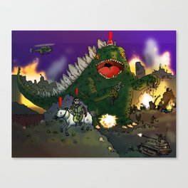 """Big Snake Vs. Big Lizard"" (Farts 'N' Crafts episode 3) Canvas Print"