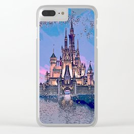 Sleeping Beauty's Castle Clear iPhone Case